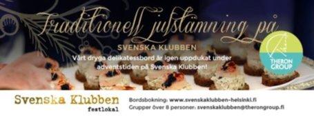 Svenska Klubbenin Joulupöytä