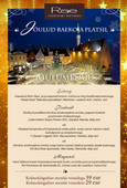 Christmas menu in restaurant Rae