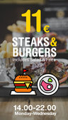 11€ Steaks and Burgers