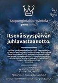 Helsingin kaupungintalon ravintolan perinteinen ohjelmallinen itsenäisyyspäivän vastaanotto