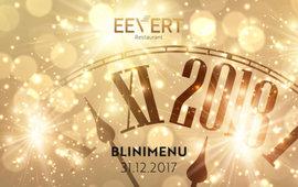 Designravintola Eevertin uusi vuosi 31.12.2017