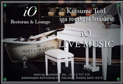 LIVE MUSIC EVERY FRIDAY AND SATURADAY EVENING IN IO RESTAURANT AND LOUNGE