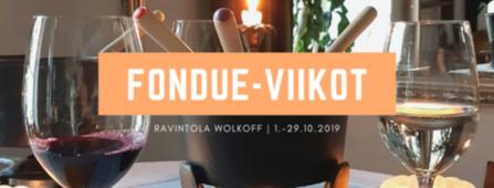 Wolkoffin fondue-viikot 1.-29.10.2019